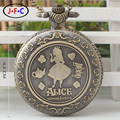 The new trend of Alice's Adventures in Wonderland  quartz pocket watch match male and female school students gift table DS213