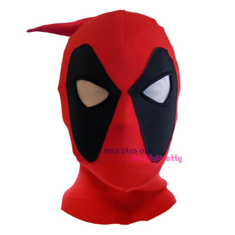 Creative Lycra Deadpool Mask Full Face Mask Halloween Cosplay Masquerade Party Deadpool Hood Masks For Adults And Kids circle