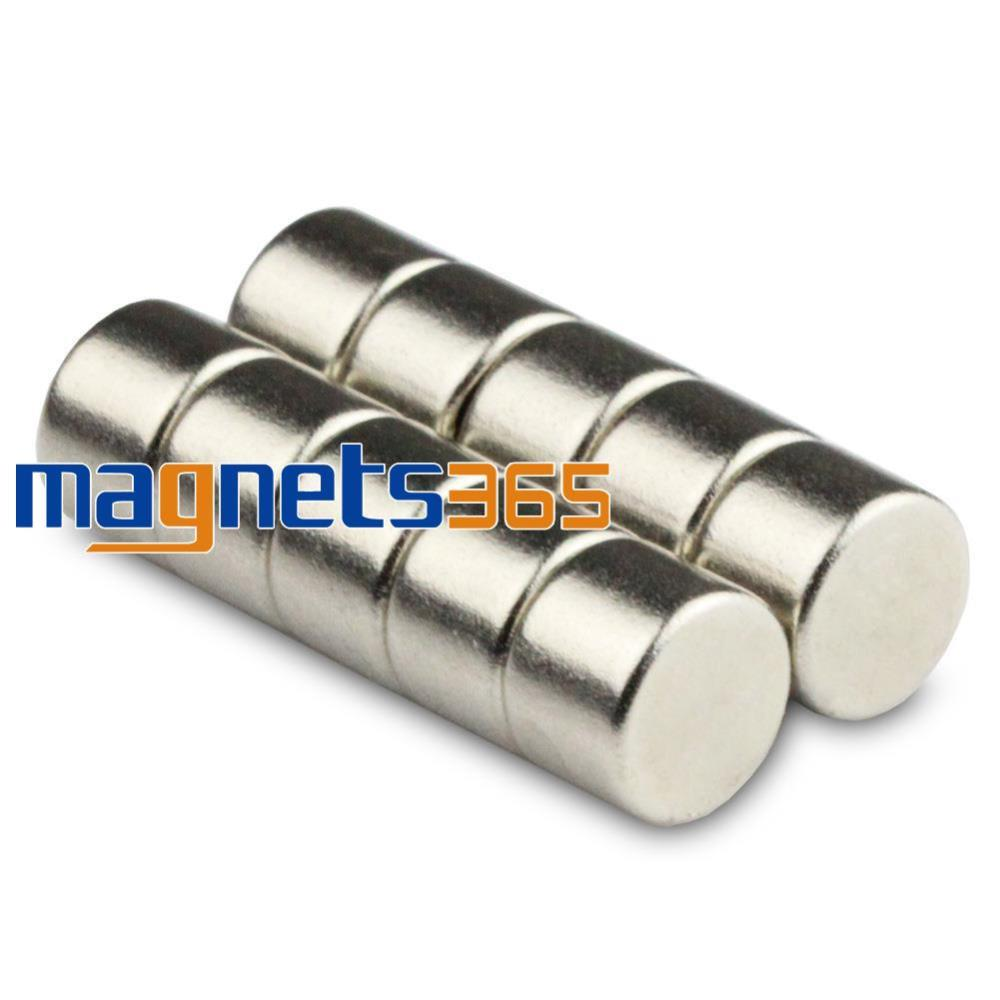 Strong Neodymium Magnets 10 of 10mm x 5mm Grade N50 Rare Earth Disc Magnet Round