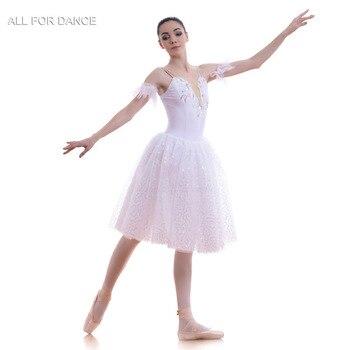 A18712 New arrival White Romantic Length Women & Girl Ballet Costume Tutu Ballerina Dance Costume Ballet Tutu