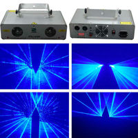 2 объектива 600 МВт синий лазерный DJ диско лазерного вечерние паб свет