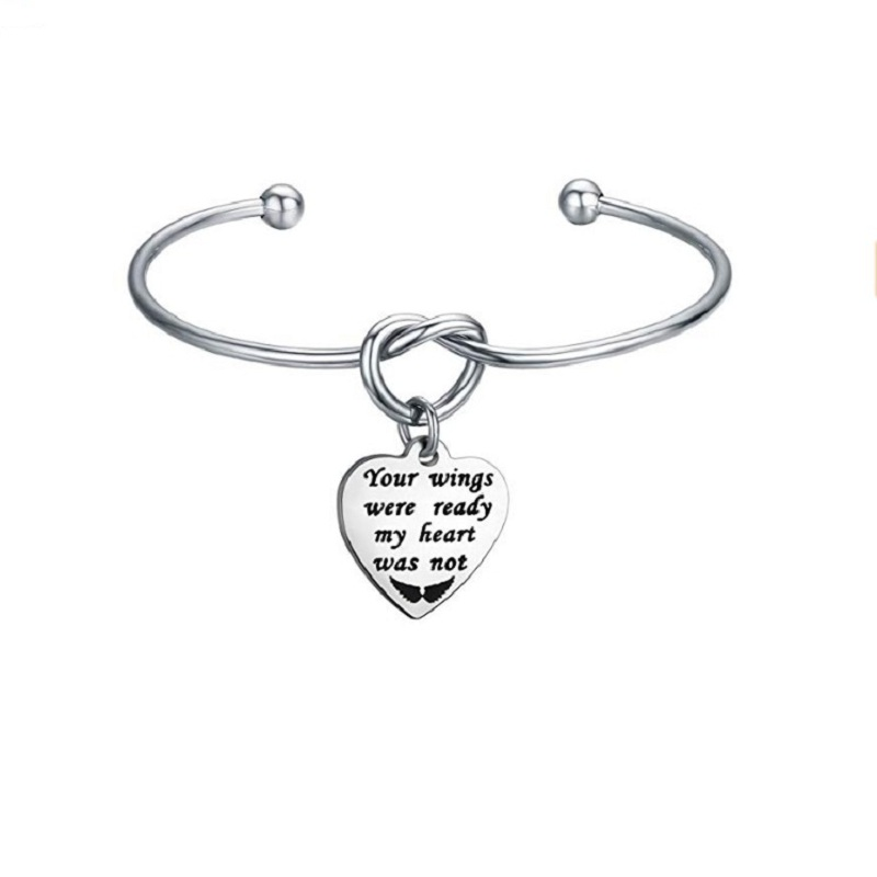 KLH99 bijoux commémoratifs en gros vos ailes étaient prêtes mon coeur n'était pas Bracelet collier perte d'un proche cadeau