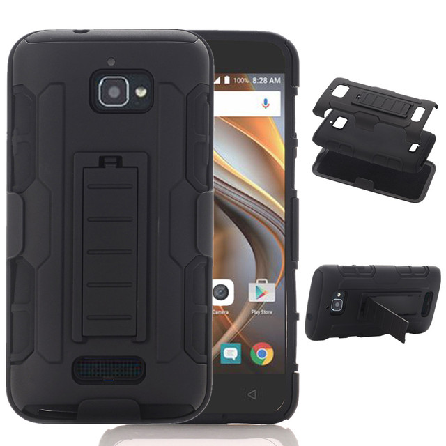 Rugged Hybrid Shockproof 3 in1 Combo Armor Holster With Belt Clip Kickstand Cover Case For Coolpad Catalyst 3622A