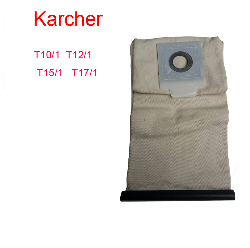 karcher vacuum cleaner bag Washable Cloth BagsT10/1 T12/1 T15/1 T17/1 Reuse Pattern parts Free Shipping karcher vacuum cleaner bag washable cloth bags for bv5 1 reuse pattern parts free shipping