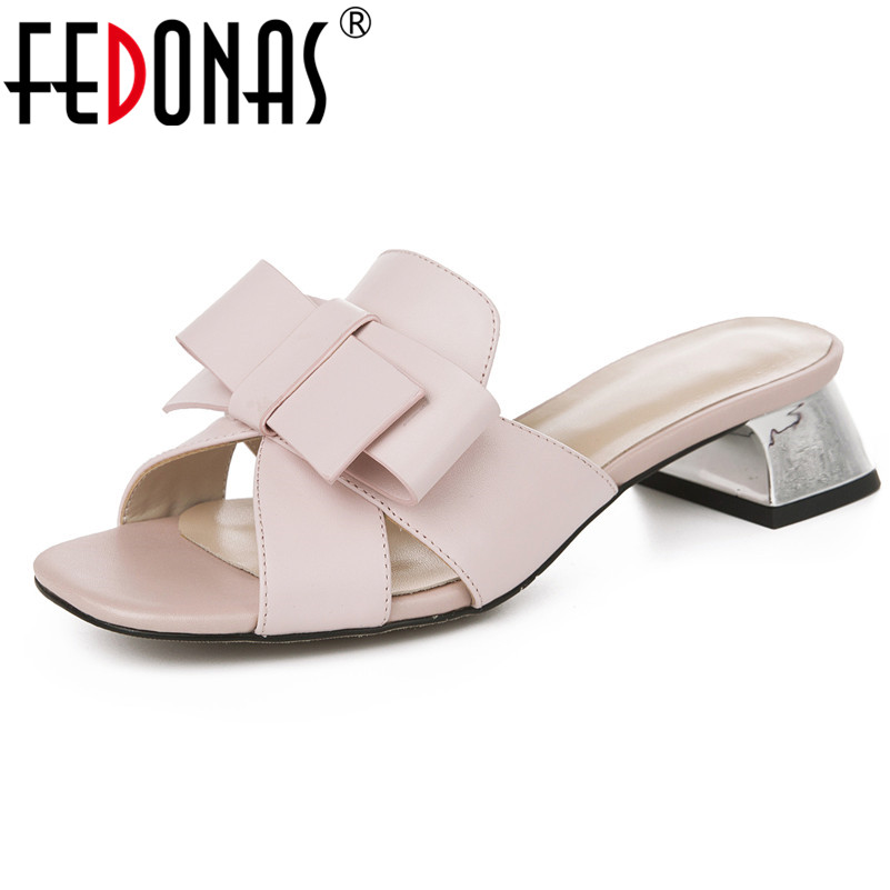 FEDONAS Fashion Pumps Women New Arrival Genuine Leather High Heels Prom Party Summer Shoes Woman Butterfly Knot Sweet SandalsFEDONAS Fashion Pumps Women New Arrival Genuine Leather High Heels Prom Party Summer Shoes Woman Butterfly Knot Sweet Sandals