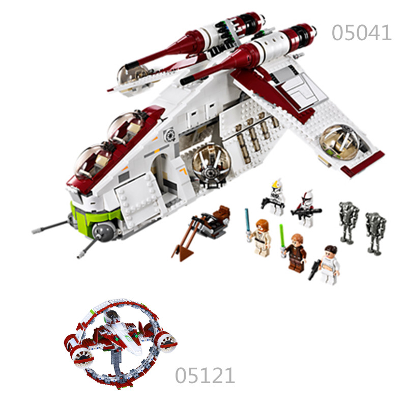 Star Wars Compatible legoinglys 05041 Toy for children The Republic Gunship Set Educational Building Blocks gift for boy цена