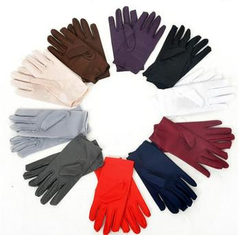 New 2018 9 Colors Evening Party Formal Prom Stretch Satin Gloves for Women