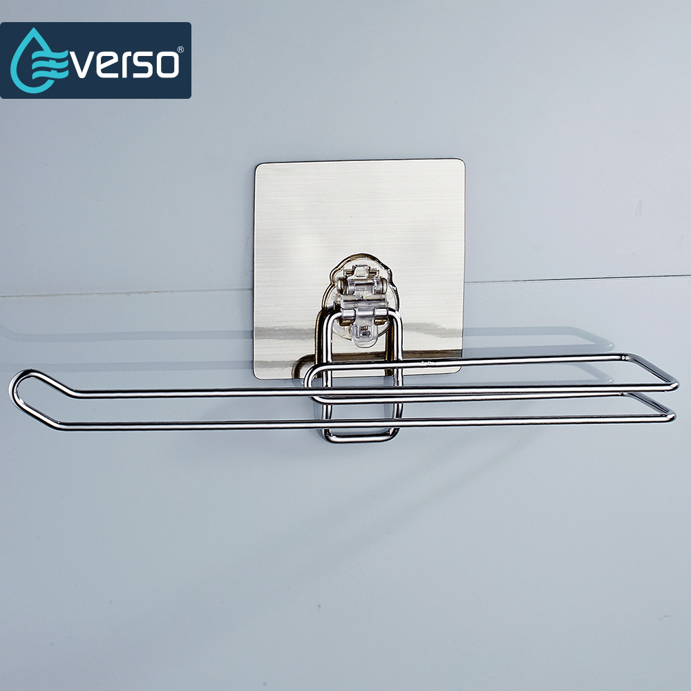 EVERSO Stainless Steel Toilet Tissue Roll Paper Holder Chrome Wall ...