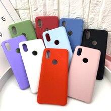 Официальный стильный жидкий силиконовый чехол для телефона для Xiaomi Note 3 Note4 6 Note 7 Redmi 4X 5A 5 Plus Note 5 Pro S2 mi9