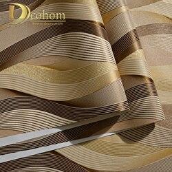 Fashion PVC Black White Silver Striped Wallpaper 3D Modern Living room Waterproof Vinyl Textured Stripe Wall paper Rolls