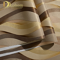 European Style Wave Curve Striped Mural Wallpaper Modern Living Room Simple Design Pvc Wallpaper 3D Papel