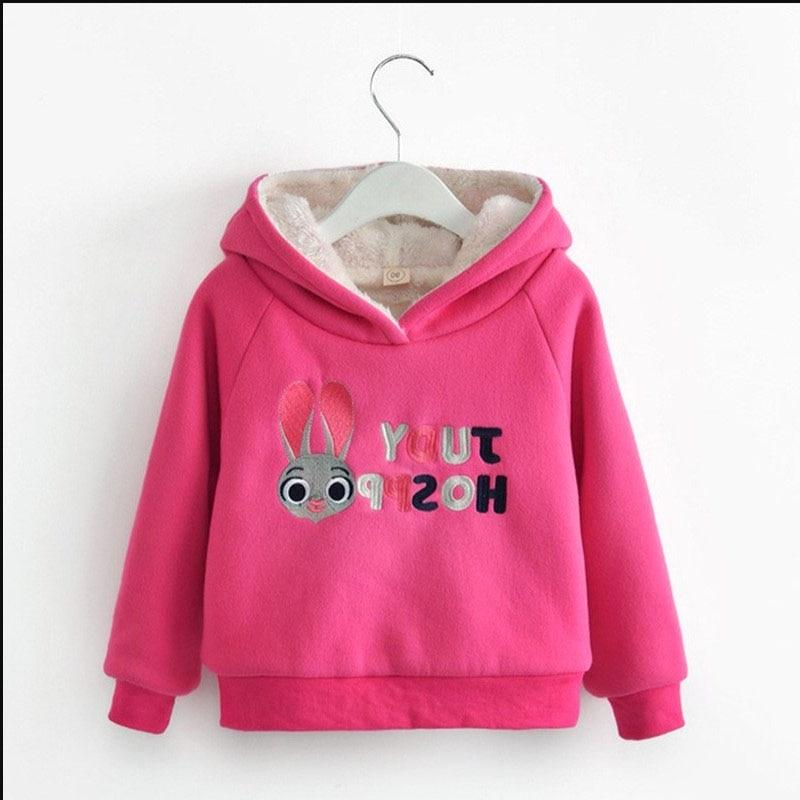 Bibicola Herbst Winter Mädchen Hoodies Kinder Mädchen Plus Samt Mantel Mode Verdicken Sport Sweatshirt Casual Oberbekleidung Jacken Nachfrage üBer Dem Angebot