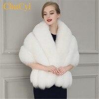 CbuCyi Elegant Women Winter Cape Coats Warm Faux Rabbit Fur Capes Ladies Faux Mink Fur Shawl Cloak Women Short Cape Ponchos