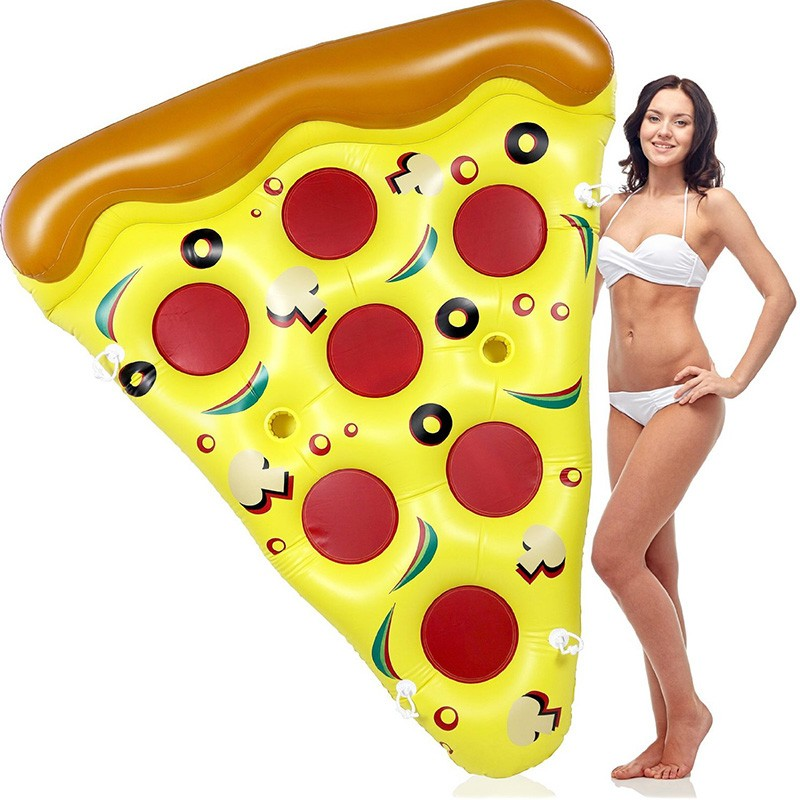 Inflatable Yellow Pizza Pool Toys Float  Inflatable Swimming Rings for Pool Party Favor Summer Holiday Water Air Mattress toys (5)