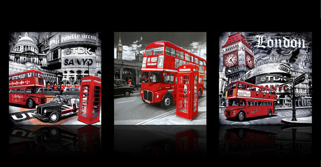 London Wall Art aliexpress : buy london street oil painting on canvas black