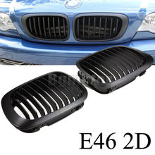 Black Kidney Sport Grilles for BMW E46 3 Series 2 Door 2D Coupe Cabridet 1998-2002
