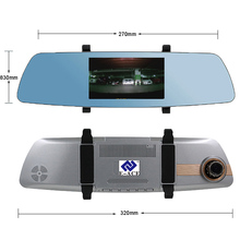 E-ACE 5 Inch Touch Screen Car Dvr Full HD 1080P Video Recorder