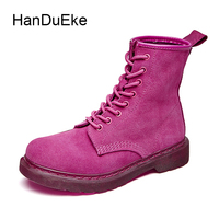 2017 New Spring Autumn 3 Colors British Retro Style Martin Boots Round Toe Lace Up Motorcycle