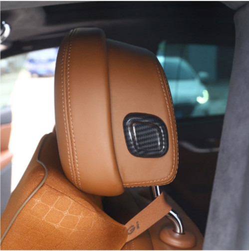 Fibre de carbone Style intérieur siège tête oreiller bouton couverture paillettes garniture autocollant pour Maserati Levante pour Quattroporte voiture Style