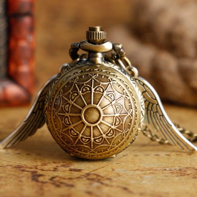 Di Nuovo Modo Di Boccino D'oro Orologio Da Tasca In Acciaio Inox Con La Collana