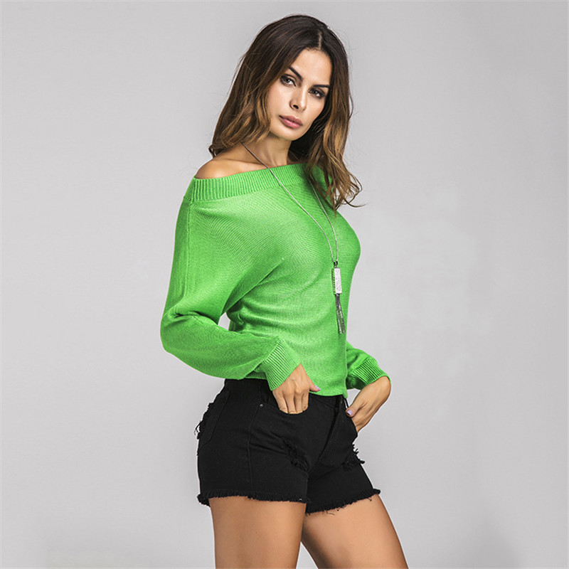 2017 NEW Cashmere Sweater word collar pullover knitted sweater womens long sleeve casual shirt Wool sweater FT331