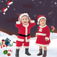 Christmas Toddler Kids Santa Claus Dress