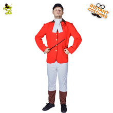 Newest Adult Men Riding Uniform Costume Horse Riding Clothes Red Top Fancy Dress Outdoor Sports Cosplay Riding Uniform(China)