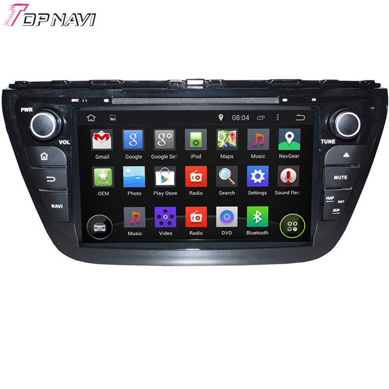 Topnavi Quad Core Android 5.1 Car GPS Navigation for SX4 2014 S Cross 2014 Car DVD Multi ...