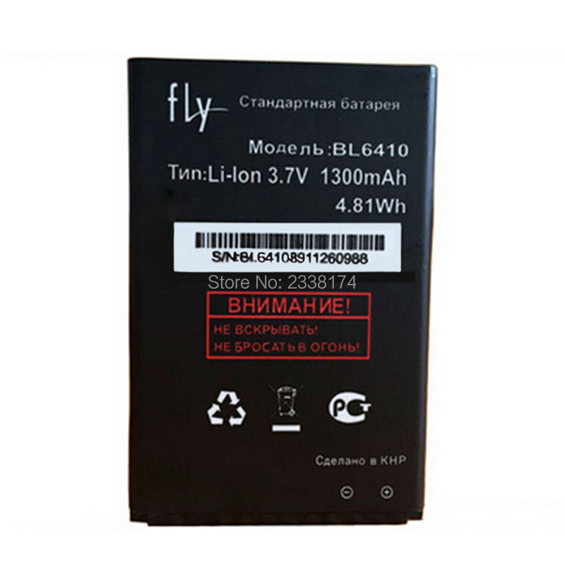 1pcs 100% High Quality BL6410 1300mAh Replacement Battery For FLY BL6410 Mobile phone Freeshipping + Tracking Code
