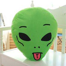 Nouveau E.T. En peluche Coussin de cou de poupée Alien, 45cm, vert, mignon oreiller Extra-terrestre doux en peluche, cadeau d'anniversaire pour petite amie