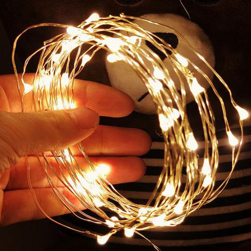 Lights & Lighting Trustful 1m 2m 3m 5m 10m 100leds Copper Wire Led String Lights Holiday Lighting Fairy Garland For Christmas Tree Wedding Party Decoration