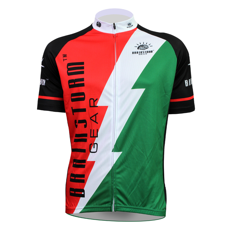 New Brainstorm Gear Cycling shirt bike equipment Mens Cycling Jersey Cycling Clothing Bike Shirt Size 2XS TO 5XL ILPALADIN