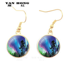 Yanhong ornaments Aurora Borealis crystal earrings and night light souvenirs are the best decorations for birthday parties.(China)