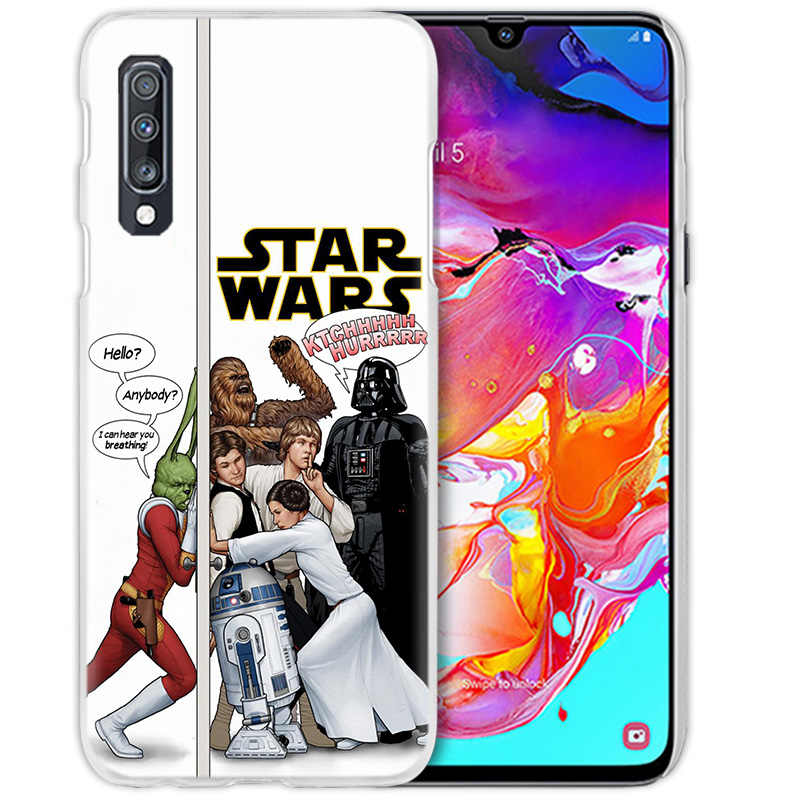 Новый R2D2 Звездные войны чехол для samsung Galaxy A50 A70 A20e A40 A30 A20 A10 A8 A6 плюс A9 A7 2018 жесткий прозрачный ПК чехол для телефона чехол