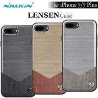 IPhone 7 Durumda 4.7 '' için Nillkin Lensen Vintage Arka Kapak iphone 7 Artı 5.5 '' TPU PC Hibrid Arka Kapak Kılıf + Perakende Paketi