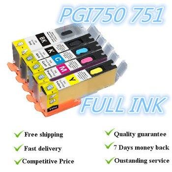 5 цвет Полный чернил Refillalbe картридж костюм Для PGI-750PGBK CLI-751BK/C/M/Y картридж PIXMA MG7170 MG5570 MG6470
