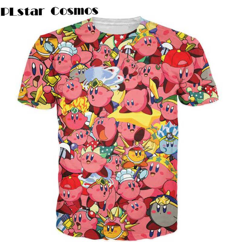 538f09d0b6e PLstar Cosmos Kirby Collage T-Shirt 3d print pink Nintendo character Cartoon  Women Men t