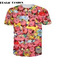Kirby Collage T Shirt 3d Print Pink Nintendo Character Cartoon Women Men T Shirt Summer Style