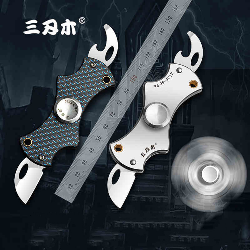 Multifunctional Outdoor Edc Tool Pocket Camping Knife Folding Survival Hunting Portable Fruit Knife Window Breaker Hand Tools Fast Color Tool Sets