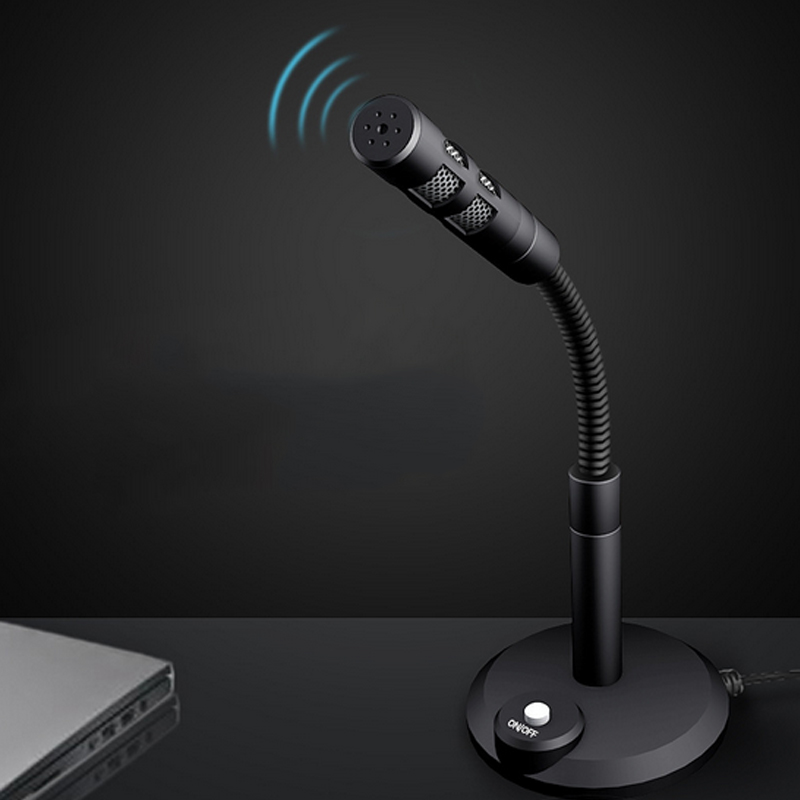 Surprise Panda Studio Speech Mic Microphone Flexible Stand 3.5mm Plug Wired Desktop for Computer PC Desktop Notebook Mac 80M11