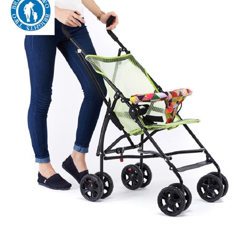 Sozzy Горячая продажа переносная, для прогулок с малышом ручной складной зонтик автомобиля складной простой складной детский четырехколесная тележка