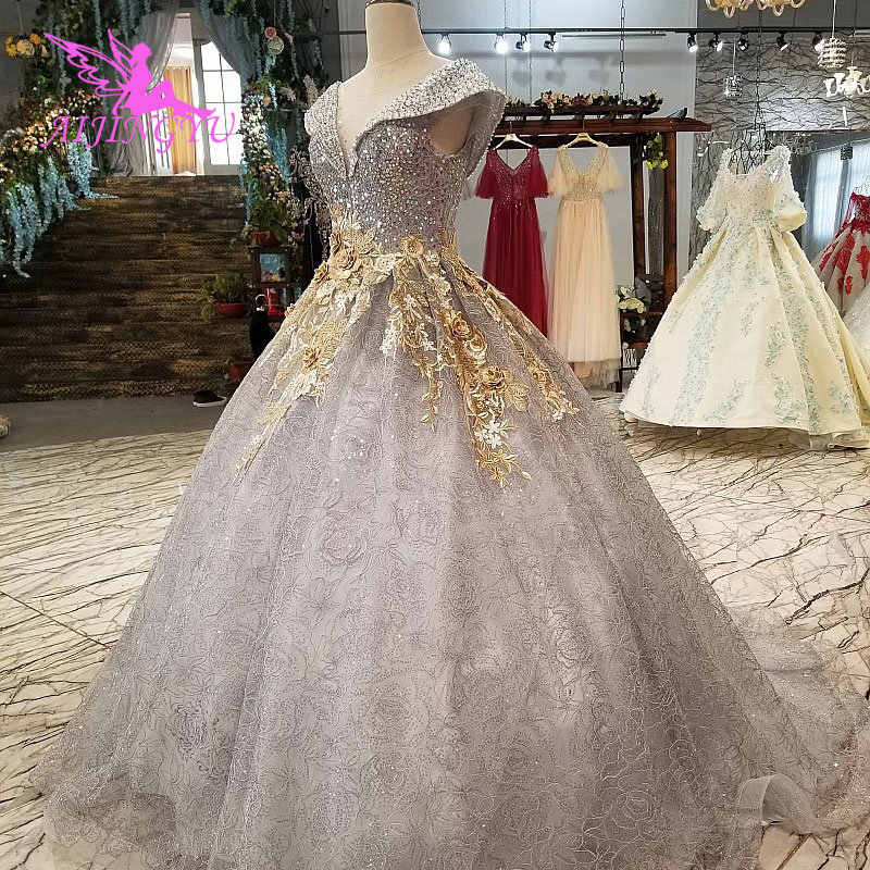 ... AIJINGYU Grecian Wedding Dress Custom Gowns Prices Ivory Luxury Gypsy  Glitter Tulle Lace Bridal Gown Ball e58c1db20639
