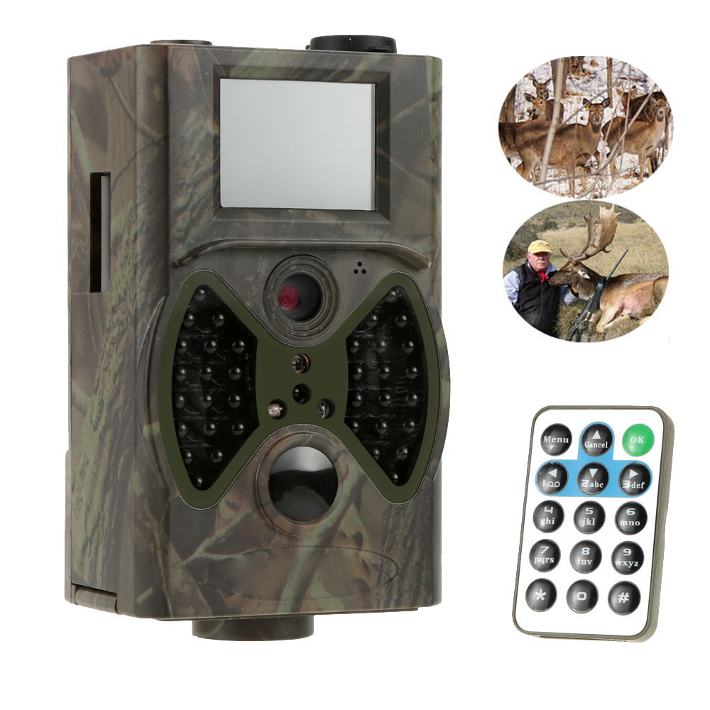 ФОТО 12MP Wildlife Cameras Scouting Digital Camera Infrared Trail Hunting Camera HC300A Trap Game Cameras
