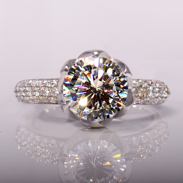 Unique Design Women crown ring Solitaire 3ct 5A zircon Stone cz 925  Sterling Silver Engagement Wedding Band Ring for women