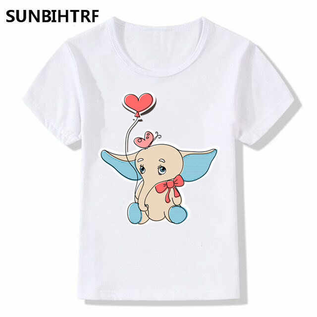 28126bb6 ... Children Fashion A little elephant in the Surf Cartoon Design Funny T- Shirts Big Boys ...