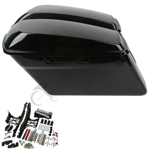 One Set Saddlebag Latch Lids Hardware Covers Fit For Harley Touring Glide 14-18
