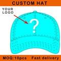 E116-18 customize design cap metal clasp closure embroidery logo cotton baseball sport bent brim custom hat small order