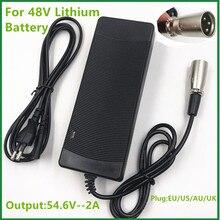 54,6 V2A ladegerät 54,6 v 2A elektrische fahrrad lithium batterie ladegerät für 48V lithium batterie pack XLRM Stecker 54,6 v2A ladegerät