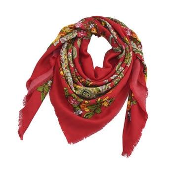 Russia Printing Bandana Gifts New Design Square Fashion Scarf 90*90cm Flower Scarves Blanket Shawl Handkerchief For Women YR102