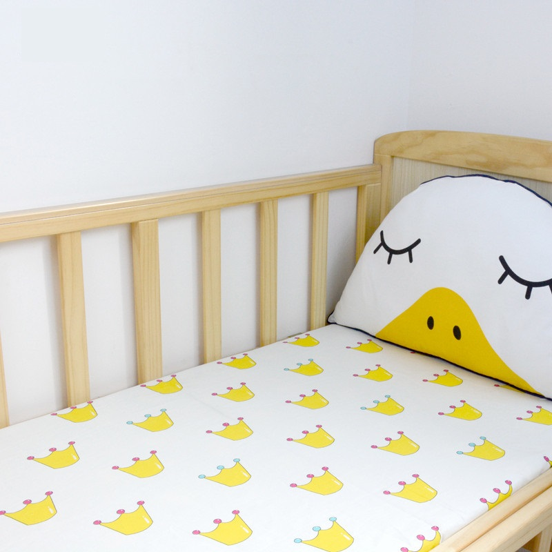 Babies Crib Fitted Sheet Cute Kids Beddings Common Size Sheet For Baby Cot Elastic Cotton Sheet Mattress Cover Multi-Sizes
